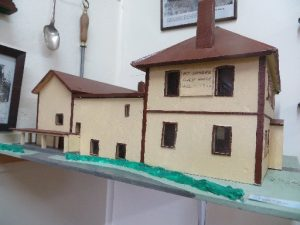 A model of the old guest house at Mt Somers